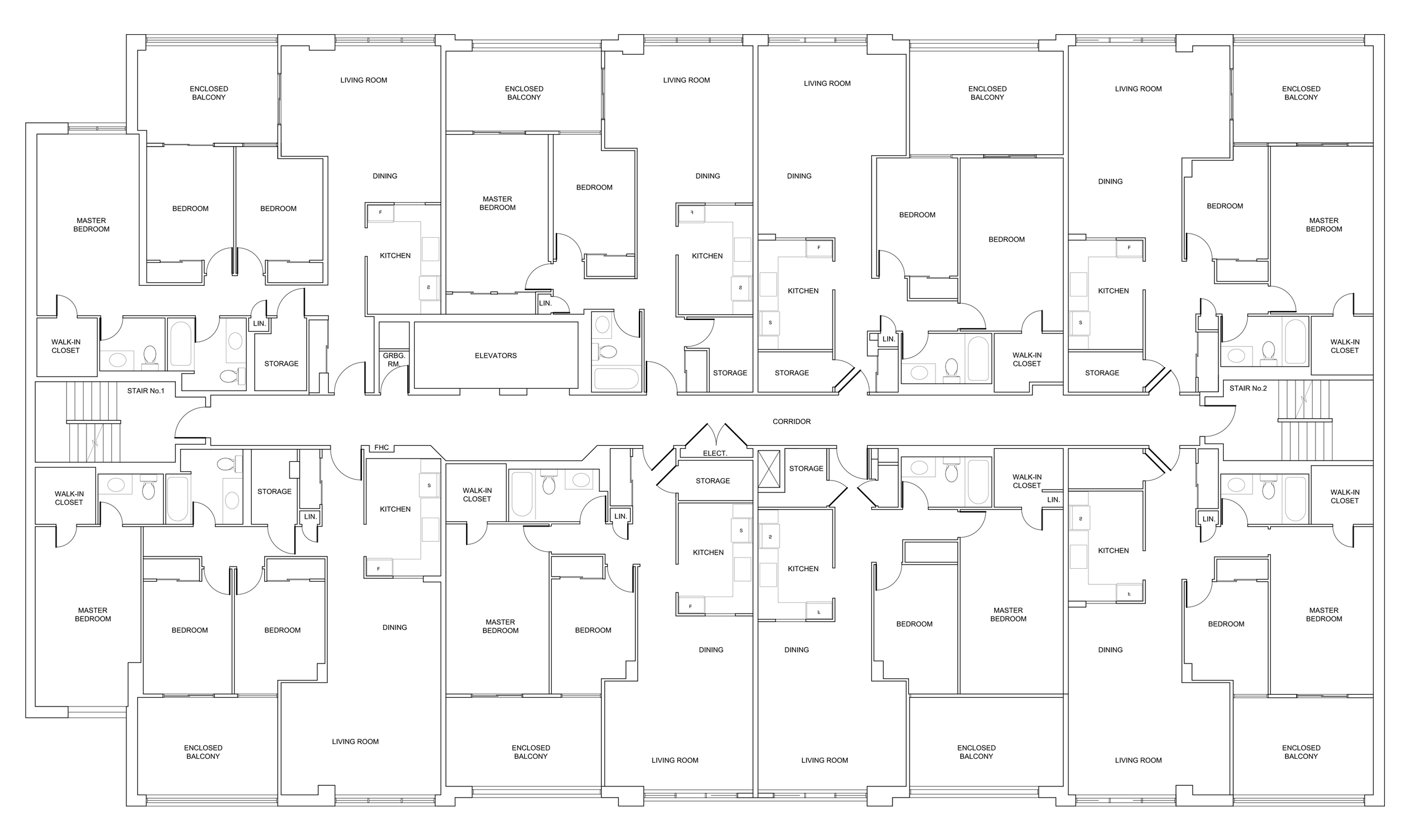 Sample plan of one floor